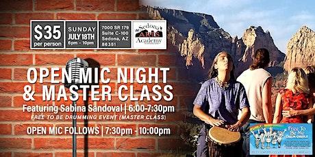 Open Mic Night Featuring Sabina Sandoval Drumming Event Masterclass tickets