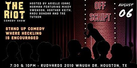 "The Riot Comedy Show presents ""Off Script"" tickets"