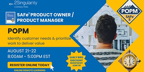 SAFe® Product Owner / Product Manager ingressos