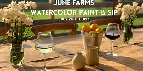 Watercolor Paint & Sip at June Farms! tickets