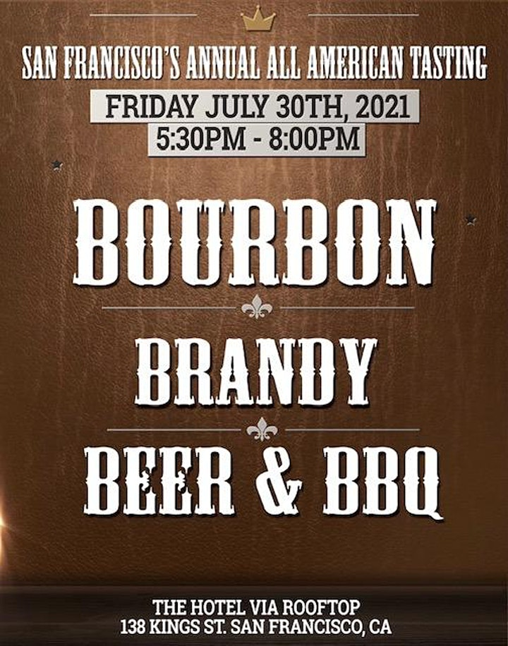 SF ANNUAL BBB - Bourbon, Brandy & Beer TASTING image