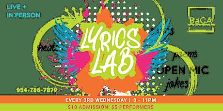 In-Person Lyrics Lab - All Arts Open Mic tickets
