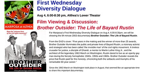 Mariposa's First Wednesday Diversity Dialogue on Aug 4th at Althea Center tickets