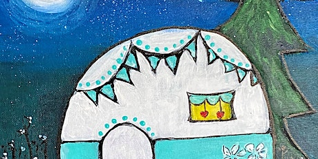 """""""Happy Little Campers""""  YES YOU CAN!  Step-by-step painting workshop tickets"""
