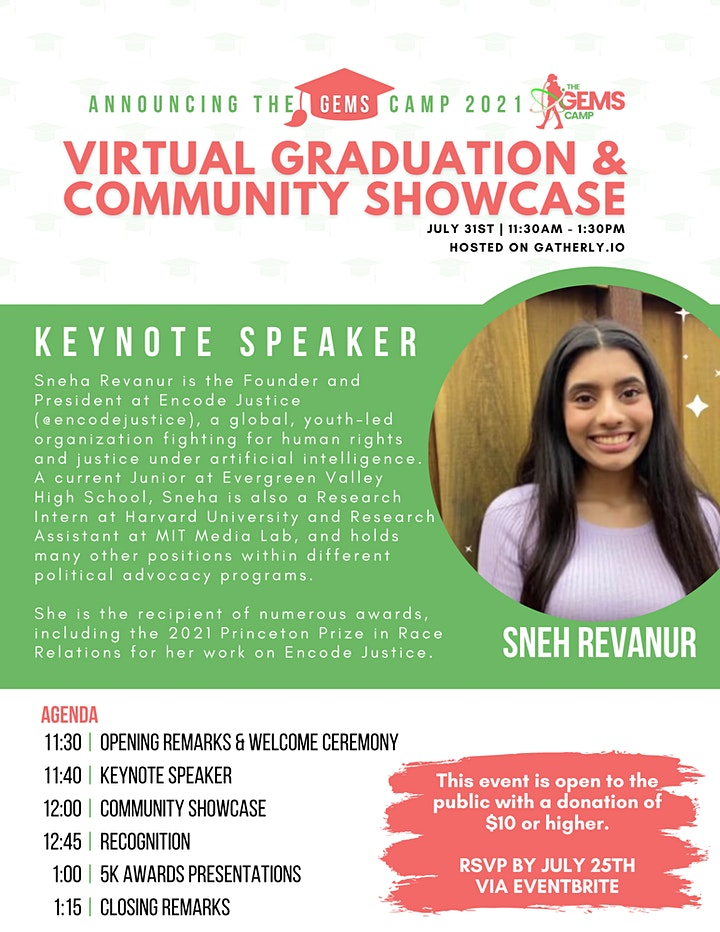 The GEMS Camp Virtual Graduation Ceremony & Community Showcase image