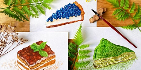 Dessert Painting with Watercolours Workshop tickets
