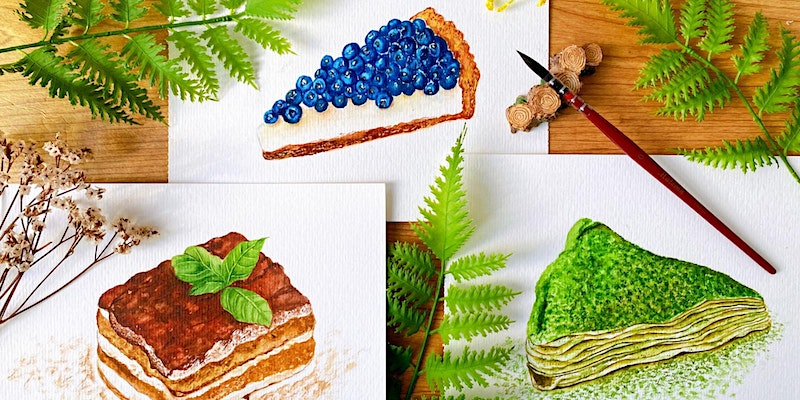 Dessert Painting with Watercolours Workshop