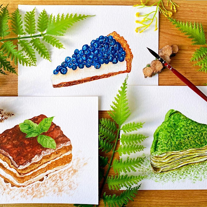 Dessert Painting with Watercolours Workshop image