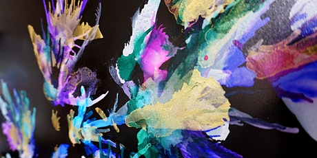 Alcohol Ink masterpiece on black tickets