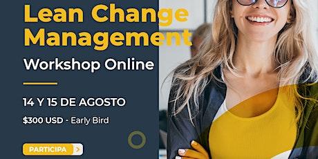 Lean Change Agent Online Workshop entradas