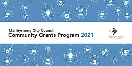 Community Grant Program 2021 Information Session tickets
