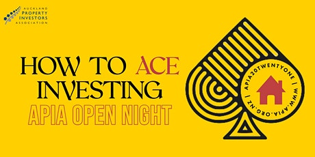 How to ACE investing: APIA 2021 open night tickets