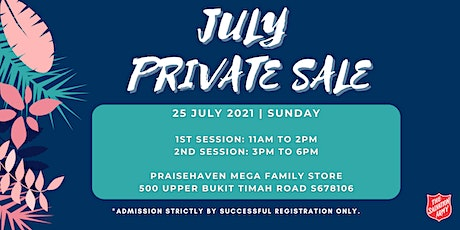 July Private Sale (2nd Session) tickets