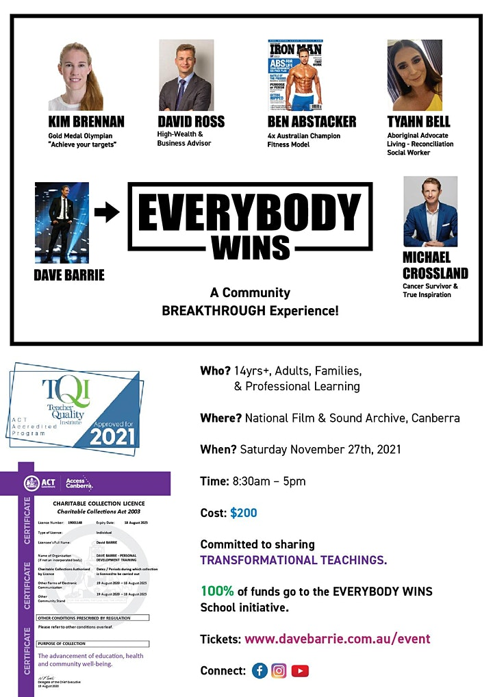 EVERYBODY WINS - Community Breakthrough Experience! image