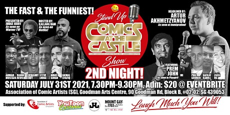 Stand Up COMICS At The CASTLE Show - 2ND NIGHT! tickets