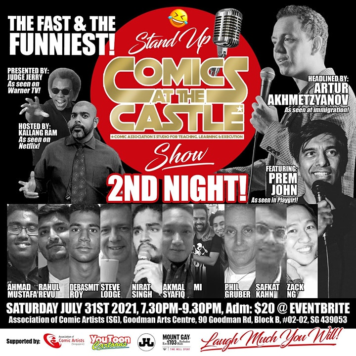 Stand Up COMICS At The CASTLE Show - 2ND NIGHT! image