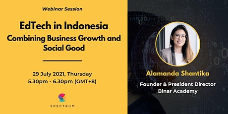 EdTech in Indonesia - Combining Business Growth and Social Good tickets