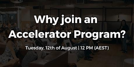 Why join an Accelerator Program? | AMA Catalysr Accelerate Program tickets