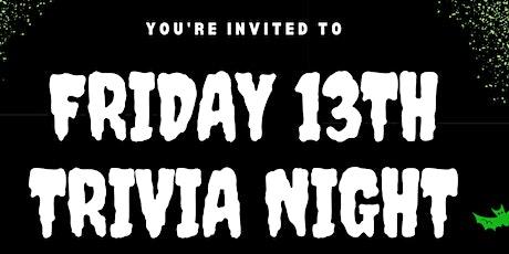 Friday 13th Trivia Night tickets