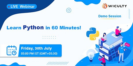 Learn Python in 60 Minutes!   Live Webinar   Demo Session tickets
