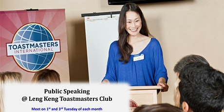 Public Speaking at Singapore Leng Kee Toastmasters tickets