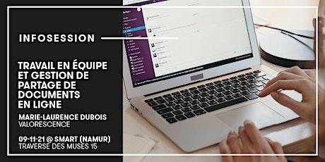 Infosession | Travail en équipe et gestion de partage de documents en ligne billets