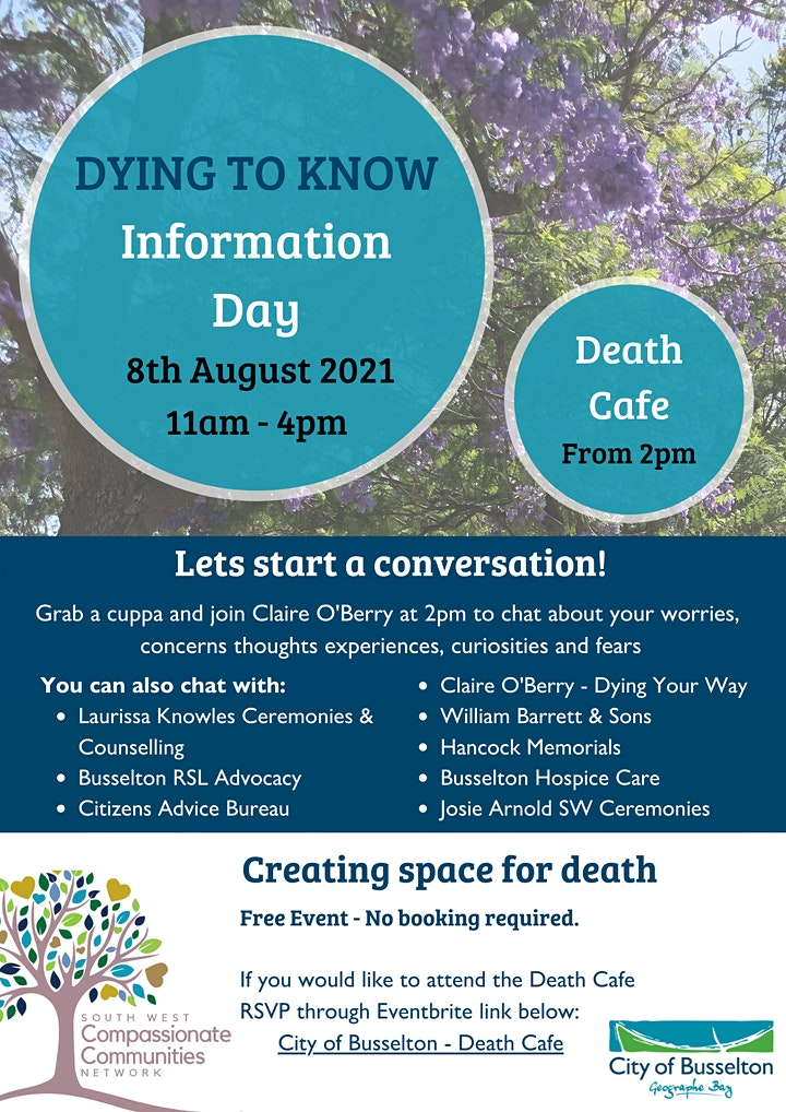 City of Busselton Death Cafe with Claire O'Berry - Dying Your Way image