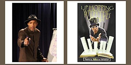 Virtual children's author event with performance poet Adisa tickets