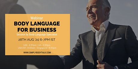 Body Language for Business- Free Webinar tickets