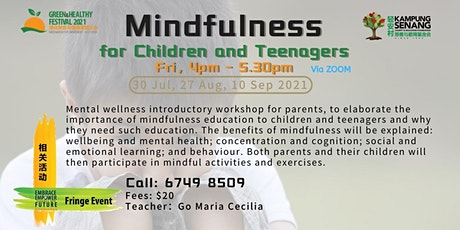 Mindfulness for Children and Teenagers 27 August tickets