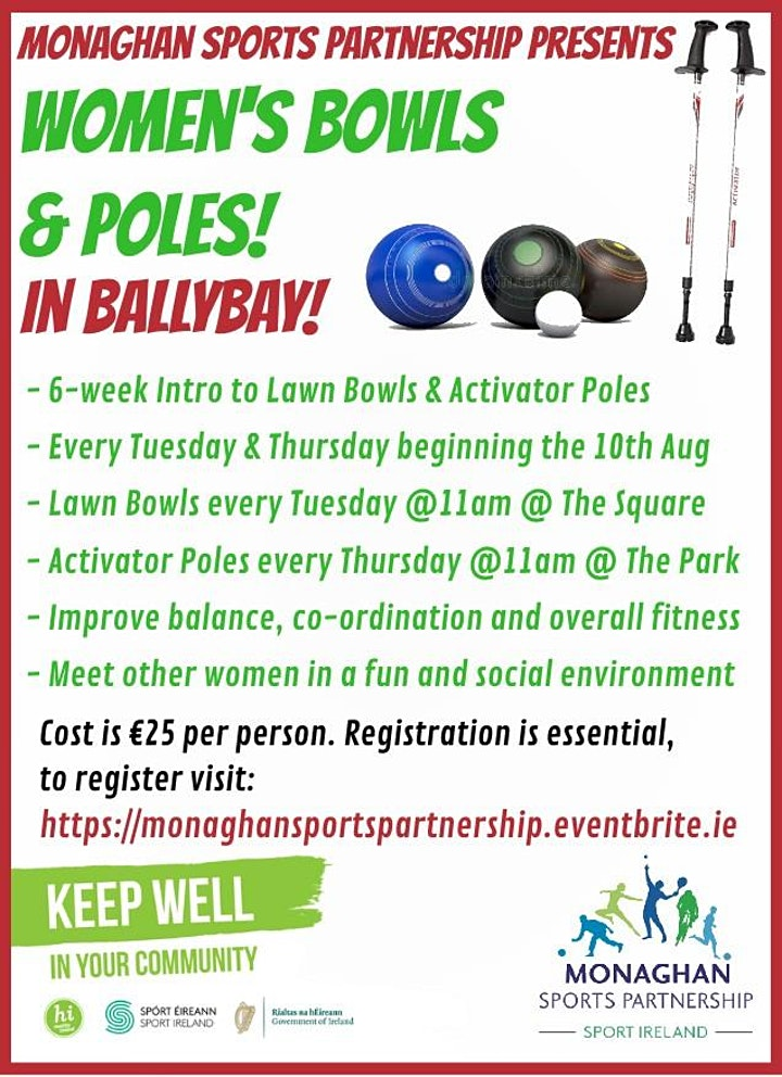 Women's Bowls & Poles in Ballybay Tues & Thurs @ 11am image