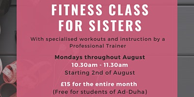 Fitness Classes for Sisters