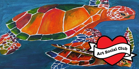 Arty Kids at Art Social Club- Mosaic Turtles Painting Workshop  Ages 8 - 12 tickets