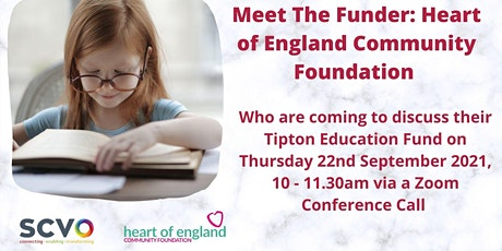 Virtual Meet The Funder: Tipton Education Fund tickets