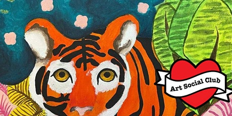 Arty Kids at Art Social Club - Jungle Tiger Painting Workshop - Ages 7 - 12 tickets