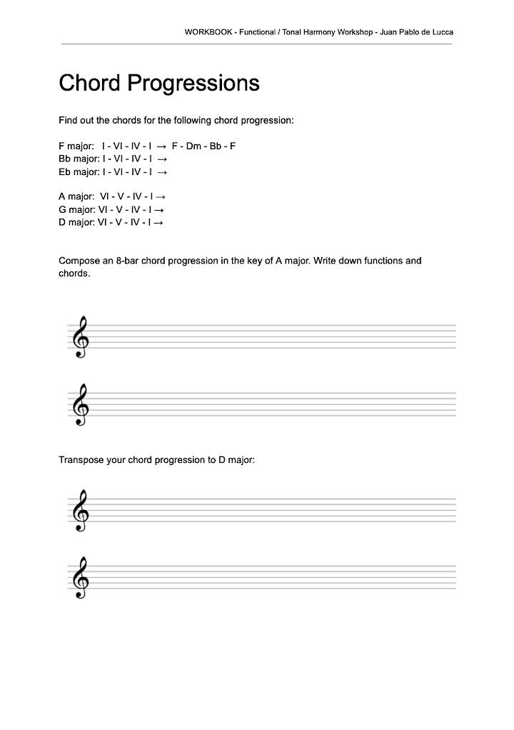 """""""Functional Harmony 1"""" - 8 week online workshop image"""