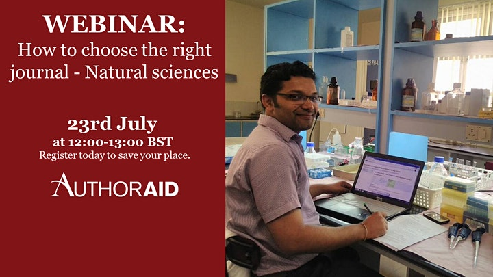 AuthorAID Webinar: How to choose the right journal - Natural sciences image