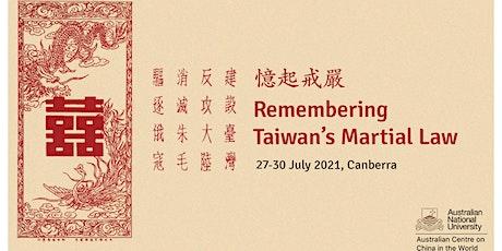 Remembering Taiwan's Martial Law Conference biglietti