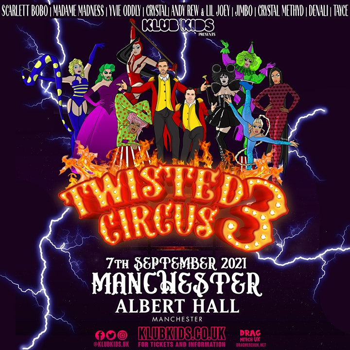KLUB KIDS MANCHESTER presents TWISTED CIRCUS 3 (ages 14+) image
