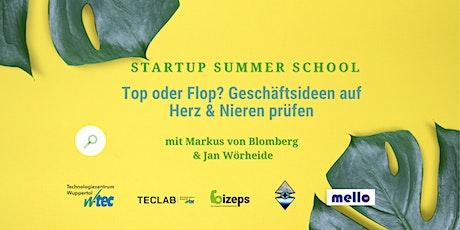 Startup Summer School: Geschäftsideen auf Herz und Nieren prüfen Tickets