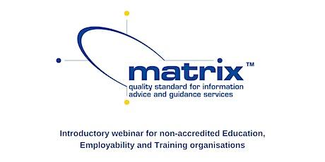 matrix Standard introductory webinar tickets