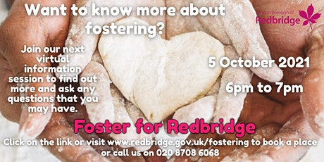Foster for Redbridge Virtual Information Session, 05.10.21, 6-7pm tickets