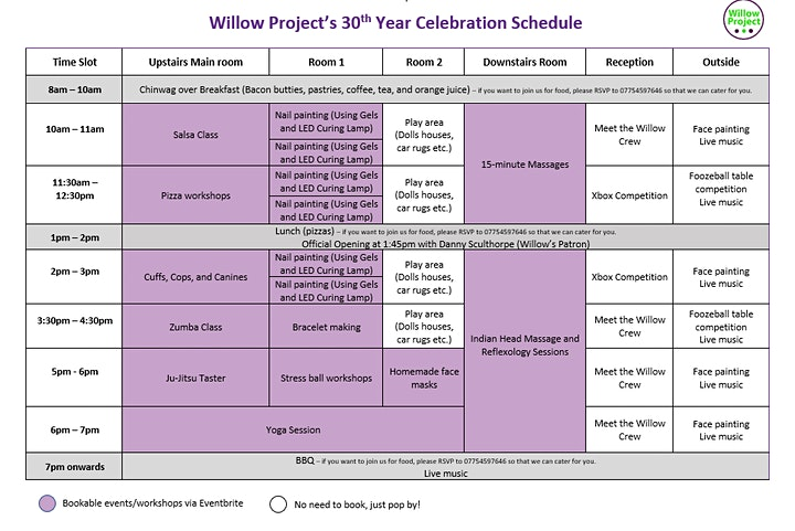 Willow Project's 30th Celebration Event image