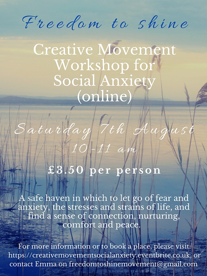 Creative Movement Workshop for Social Anxiety image
