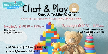 Chat & Play Parent & Baby/Toddler Group Guildford 'Autumn Term' 21 tickets