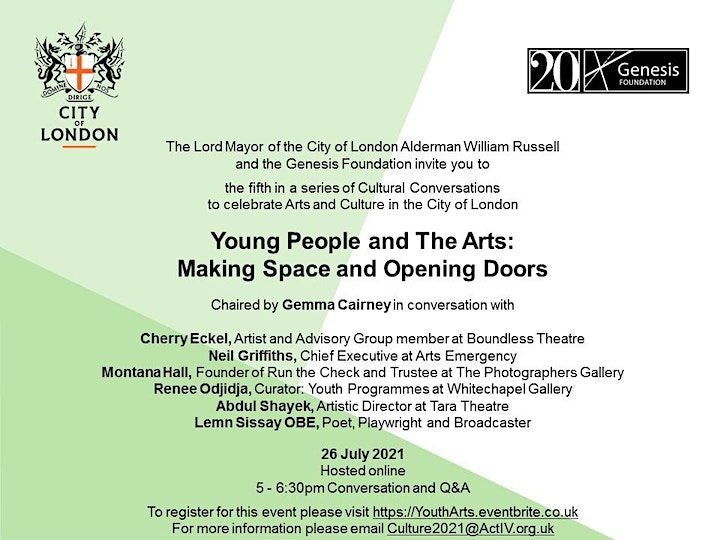 Young People & The Arts: Making Space & Opening Doors image