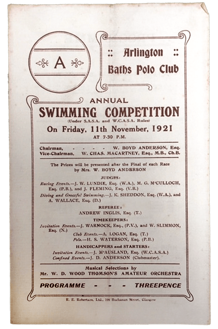 Swimmers in the city : 150 years of the Arlington Baths image