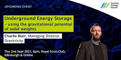 """""""Underground energy storage -  gravitational potential """" tickets"""