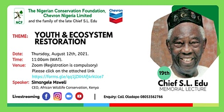 19th Chief S.L. Edu Memorial Lecture tickets