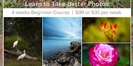 4 Week Photography Beginner Course tickets